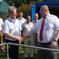 Bundesminister Altmaier informiert  sich im Klimapark Rietberg über Geothermie